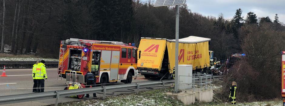 Lkw-Fahrer stirbt nach schwerem Unfall auf der A3