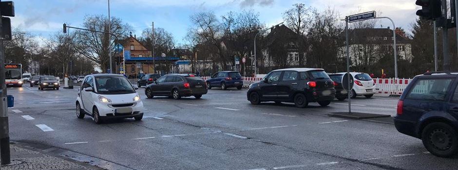 Gehweg an Kreuzung Kasteler Straße wird gesperrt
