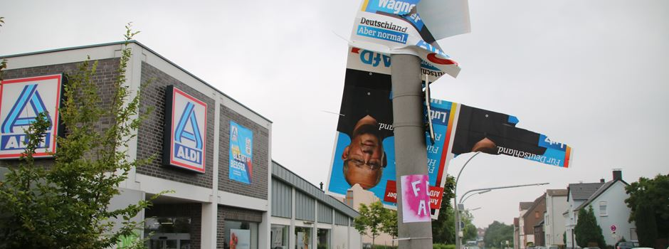 Fast alle Wahlplakate der AfD abgerissen - die Waltroper Kandidaten im Check
