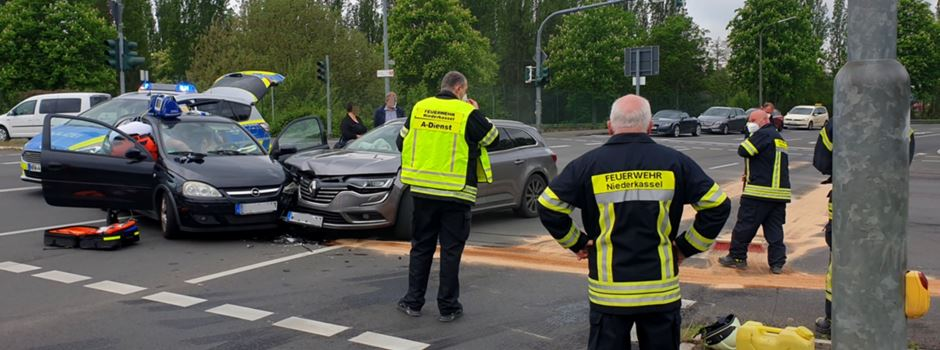 Autounfall auf Hauptstraße in Richtung Ranzel