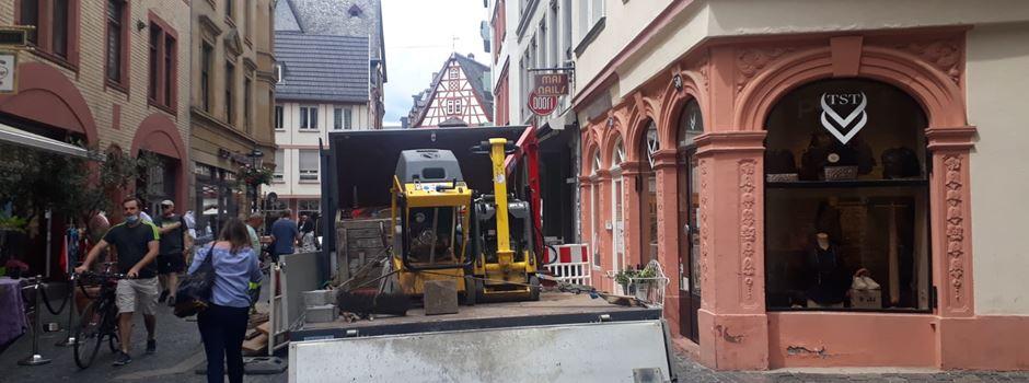 Baustelle in der Altstadt verärgert Ladenbesitzer und Gastronomen