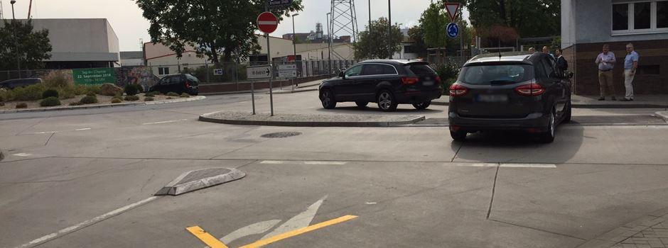Überraschung für Autofahrer: Neue Verkehrsführung in Biebrich