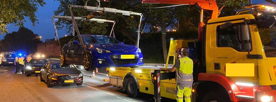 Kurzer Prozess: Mainzer Polizei lässt Autoposer abschleppen