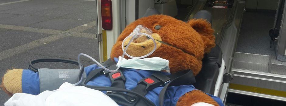 Wenn der Teddy krank wird