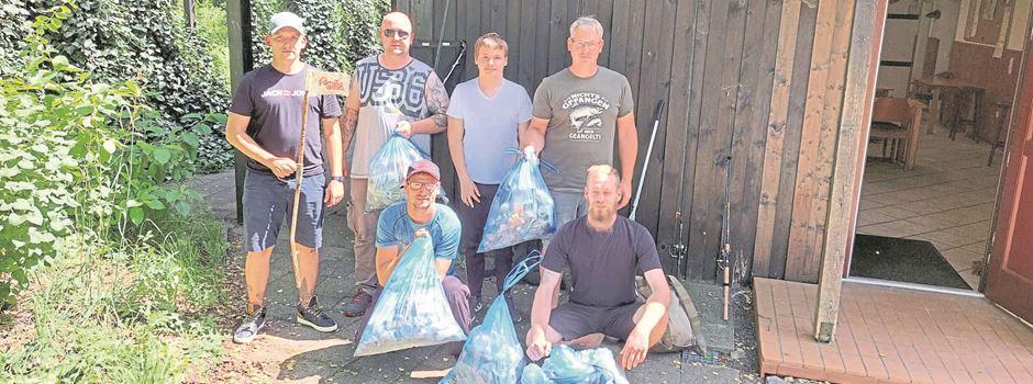 Ein toller Fang: Munsteraner Angler sammeln 16,5 Kilogramm Müll auf