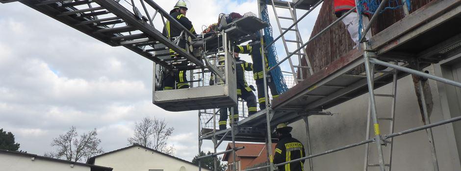 Arbeiter in Ebersheim abgestürzt