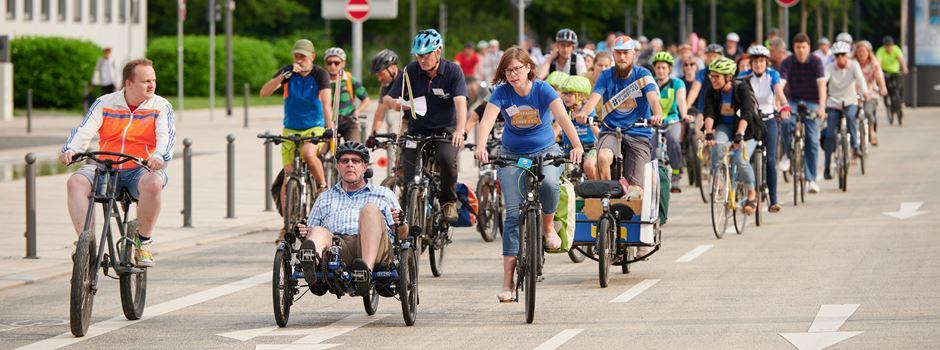 Stadtradler sammeln Kilometer in Wiesbaden