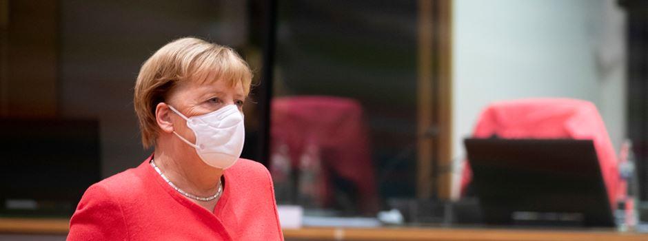 Bundeskanzlerin kommt in Katastrophengebiet