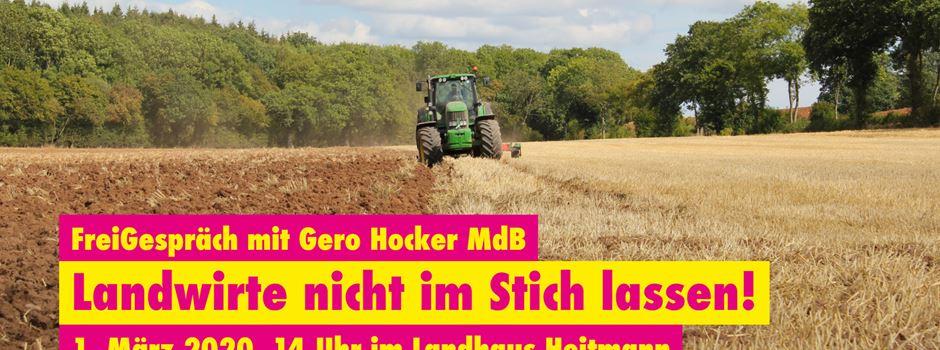 FDP will Landwirte nicht im stich lassen