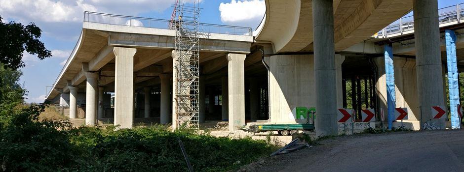 Abfahrt an Schiersteiner Brücke wird gesperrt