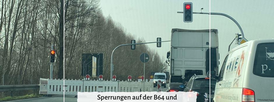 Sperrungen auf der B64 und Teilsperrungen im Kreuz mit der A2 in Rheda-Wiedenbrück