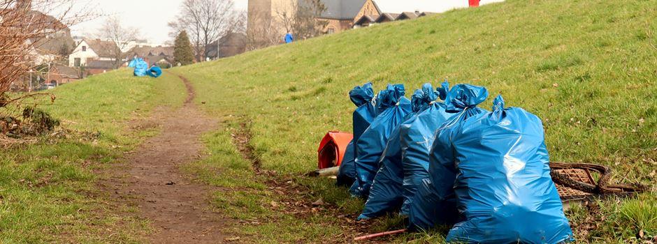 """Pfaffenhütchen e.V."" sammelte Müll am Niederkasseler Rheinufer"