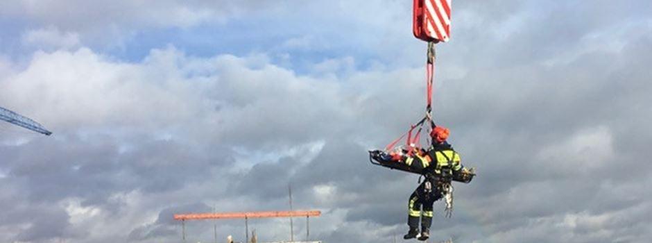 Feuerwehr muss zu Höhenrettung  ausrücken