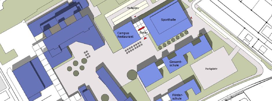 Erweiterung des Schulzentrums Nord & Neubau eines Sportparks Nord