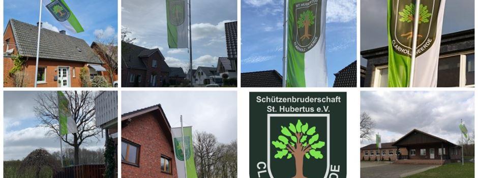 Hubertusschützen hissten über Ostern ihre Flaggen