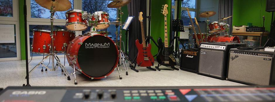 Musikunterricht im Jugendzentrum Pentagon