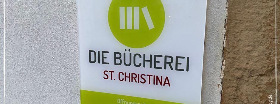 Schließung Bücherei St. Christina bis 12. Januar