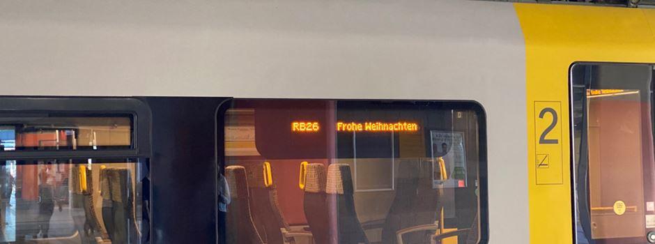 Kuriose Anzeige bei der Mittelrheinbahn