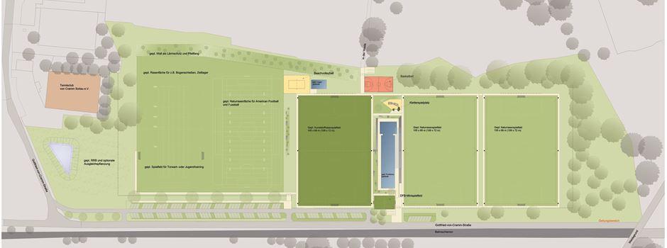 Moderner Sportpark für alle Vereine