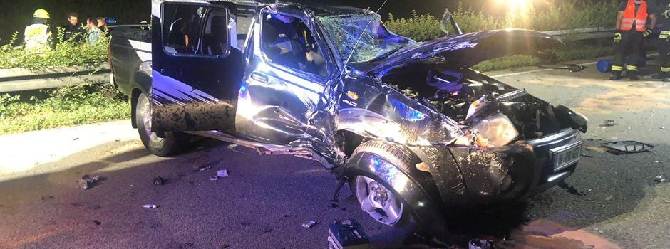 Drei Verletzte nach schwerem Unfall auf A3