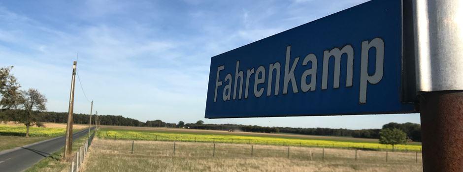 Straßenvollsperrung: Fahrenkamp in Clarholz