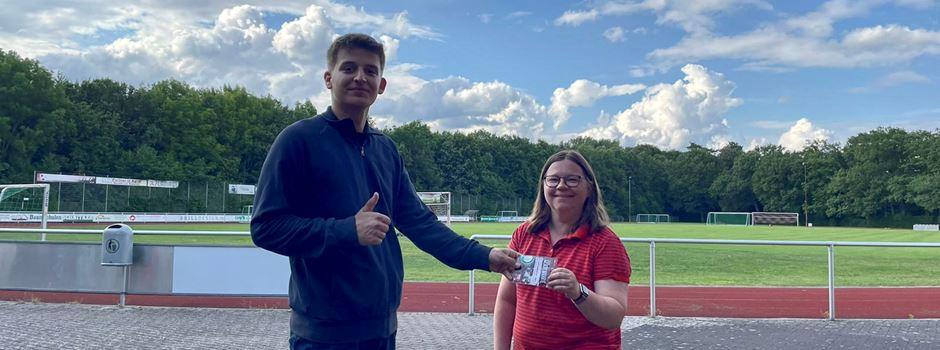 REWE Getränkemarkt Anton Wiebe sammelt Pfandquittungen für den Herzebrocker SV