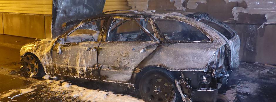 Ausgebranntes Auto: Tunnelschäden und neues Tempolimit