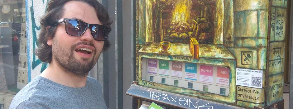 In diesem Automaten gibt es Kunst statt Zigaretten
