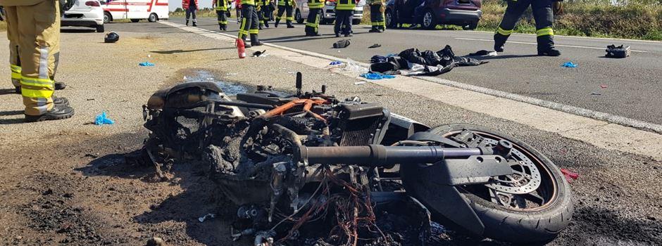Motorradfahrer (37) bei Unfall schwer verletzt