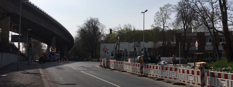 Vollsperrung in der Hattenbergstraße