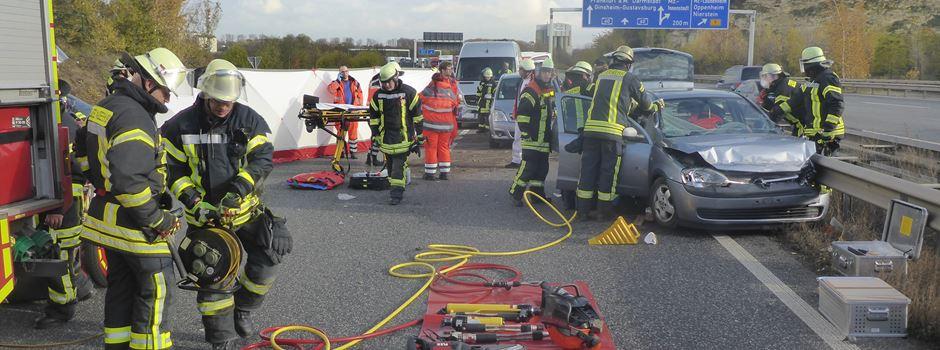 Rückstaus nach Unfall auf der A60