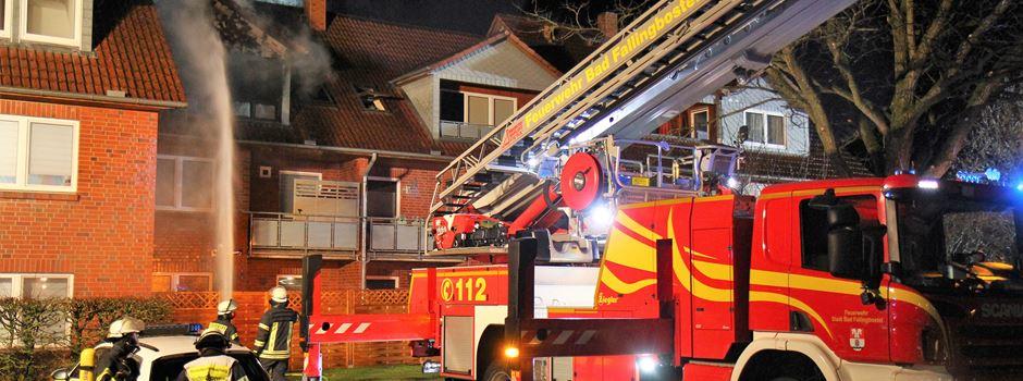 Wohnungsbrand: Großeinsatz in Soltau