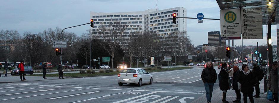 Verkehrsinsel am Hauptbahnhof wird vergrößert