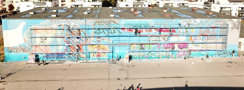 Das ist Schwabens größte Graffiti-Wand