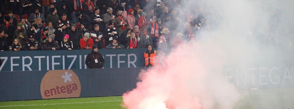Frankfurt-Fans sorgen für Pyro-Eklat