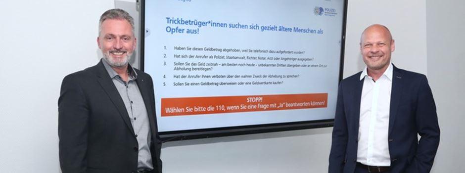 Polizei und VR-Bank Rhein-Sieg gemeinsam gegen Telefonbetrug