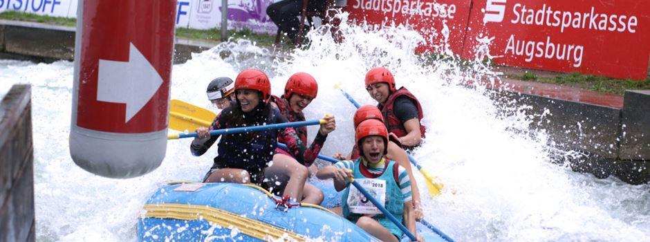 Augsburger Rafting Challenge im Augsburger Eiskanal