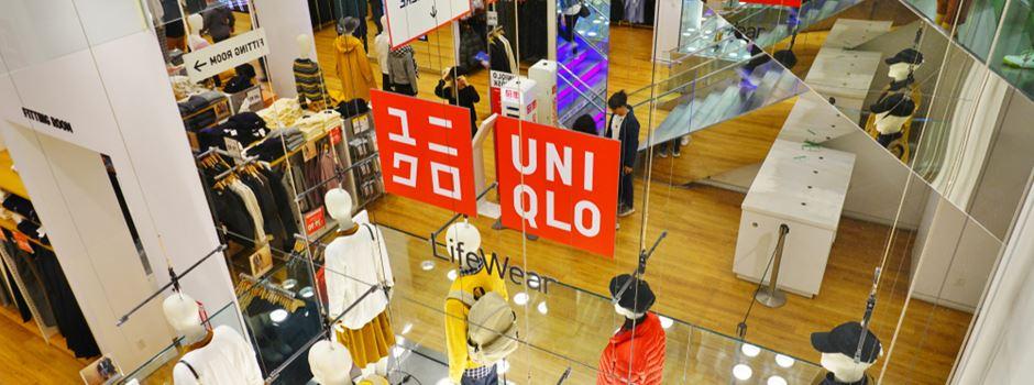 """Warten auf """"Uniqlo"""" in Frankfurt"""