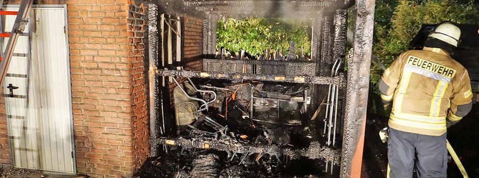 Garagenanbau brannte