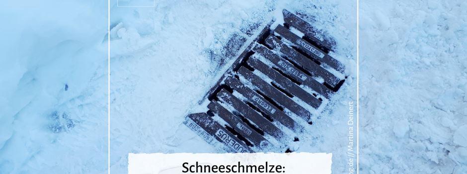 Schneeschmelze: Gullis vom Schnee befreien