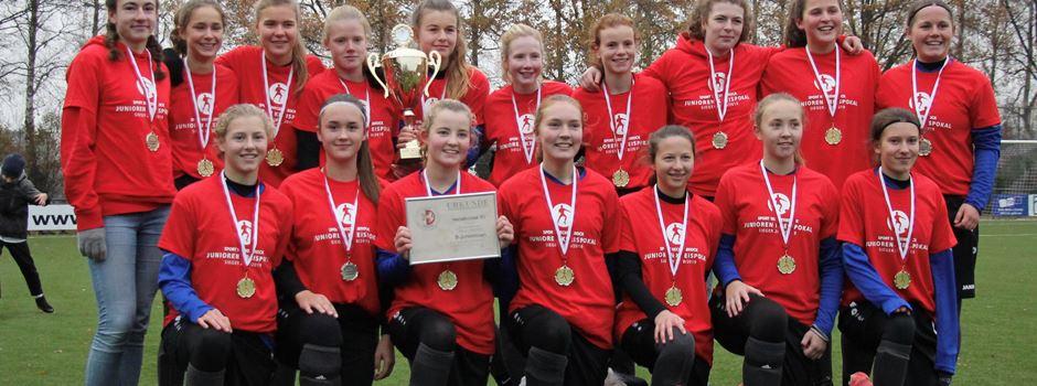 Fußball: B-Juniorinnen gewinnen das Kreispokal Endspiel