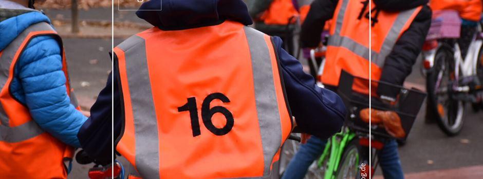 Polizei bittet um vorsichtige Fahrweise! Radfahrprüfung Wilbrandschule