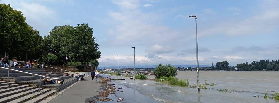Hochwasser in Mainz: So sehen die aktuellen Prognosen aus