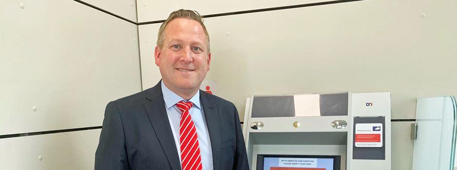 Geldautomat der Kreissparkasse Köln mit neuem Standort