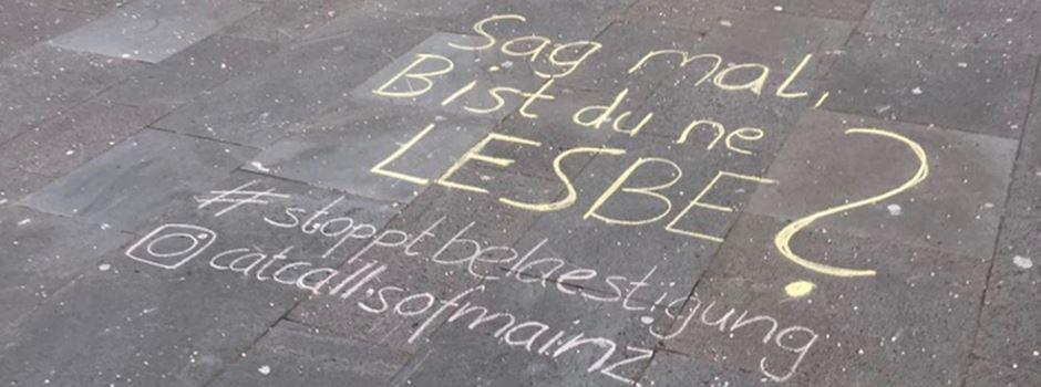 Catcalling in Mainz: Jetzt wird Belästigung öffentlich angekreidet