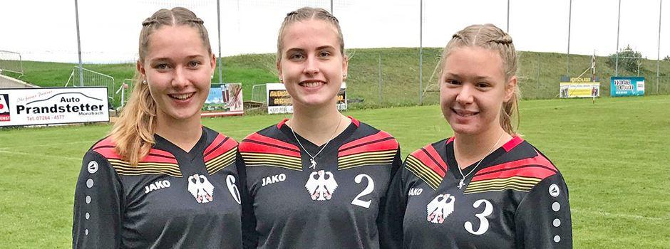 Drei Faustballerinnen vom TV Jahn feiern Debüt im Nationaltrikot