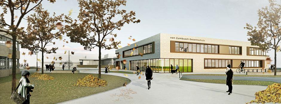 Neubau Von-Zumbusch-Schulzentrums startet
