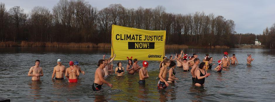 Weihnachtsbaden für mehr Klimaschutz