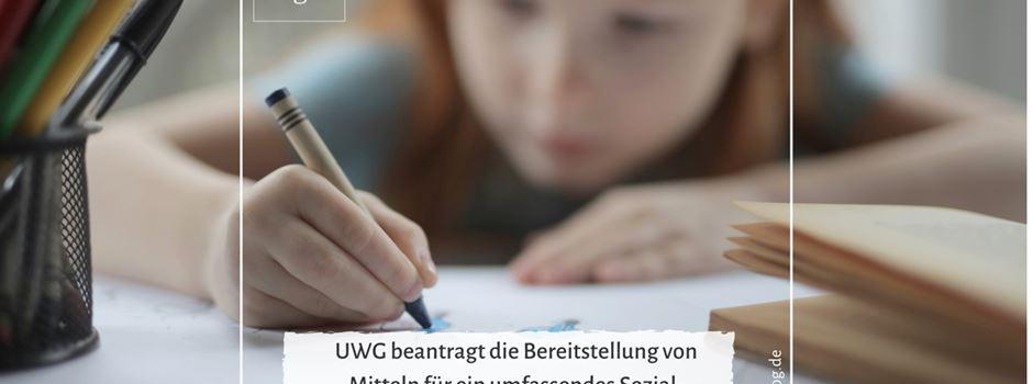 UWG beantragt die Bereitstellung von Mitteln für ein umfassendes Sozial- und Bildungspaket