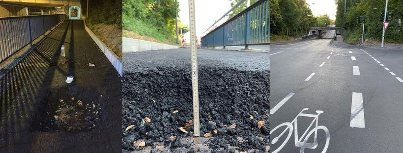 Nach Unfall: Ärger um tiefes Loch auf neuem Radweg